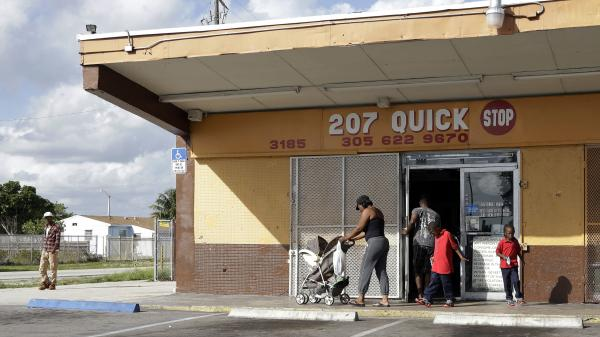 The Quick Stop convenience store in Miami Gardens, Fla., was equipped with video cameras that recorded many questionable encounters and arrests by the police. The city's police chief resigned Wednesday.