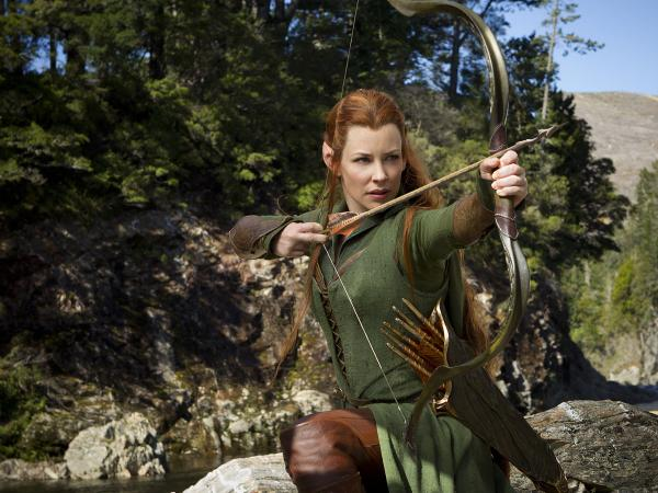 Among the additions the film makes to the original <em>Hobbit</em> story is Tauriel (Evangeline Lilly), a warrior and potential love interest for Legolas (Orlando Bloom).