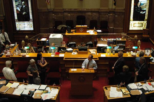 The Colorado Senate chamber, seen in a budget debate in 2011. Members are hoping to put the past in the past and work together, but post-recall shake-ups and an election year could make that difficult.