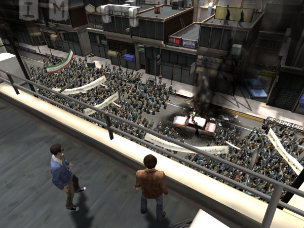 The game recreates real-life protests from 1979 Iran.