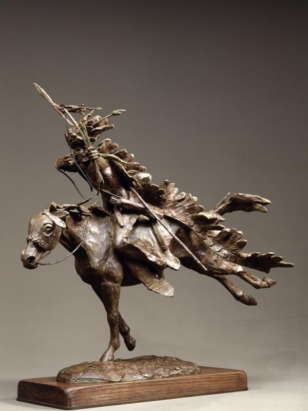 <em>Dog Soldier, a Cheyenne Warrior</em> is a sculpture Jackson created in 1983.