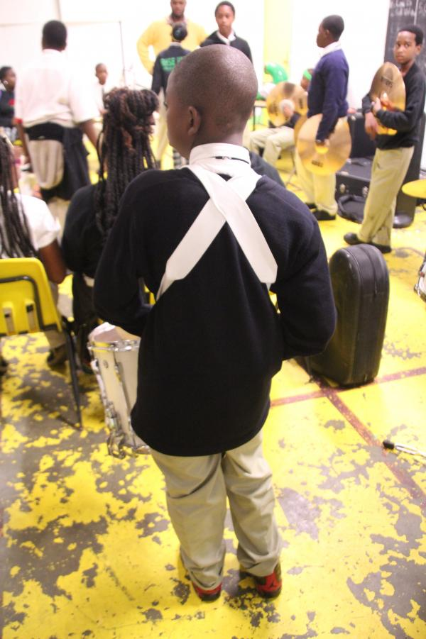 "Ka'nard plays snare drum in his school marching band, and band director Joshua Webster says Ka'nard is eager to learn the music: ""He comes to practice every day after school — every day."""