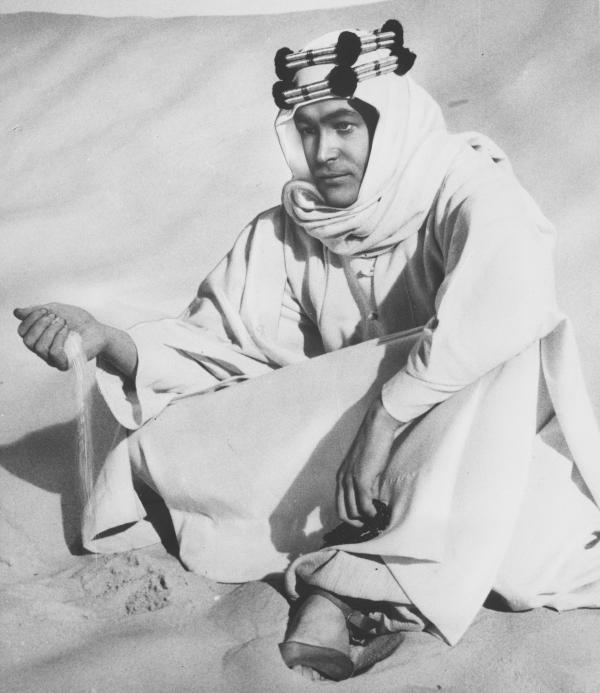 <em>Lawrence of Arabia</em> is filmed in the Jordanian desert in 1961. The role of T.E. Lawrence<em> </em>would make O'Toole famous.