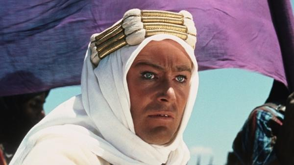 Peter O'Toole was nominated for an Academy Award for his title role in <em>Lawrence of Arabia</em>.