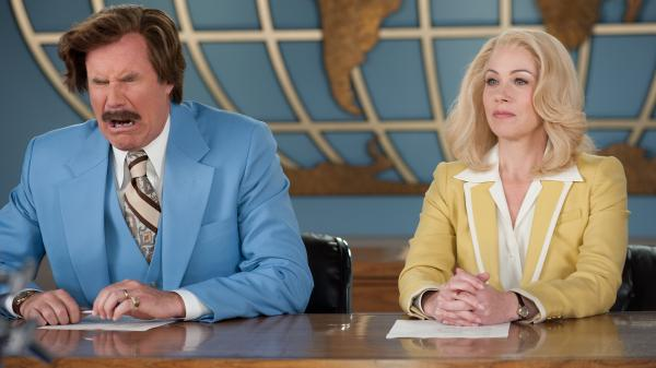Will Ferrell and Christina Applegate reprise their roles as competing news anchors in <em>Anchorman 2: The Legend Continues</em>.