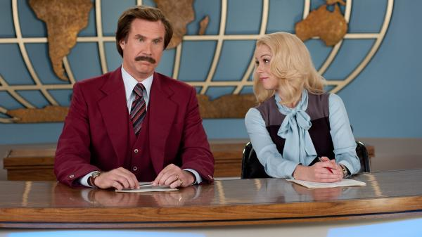 <strong>Great Odin's Raven!</strong> Will Ferrell's cheerfully idiotic Ron Burgundy and Christina Applegate's whip-smart Veronica Corningstone are back for a comedy sequel that critic Ian Buckwalter says is essentially an avalanche of one-liners.