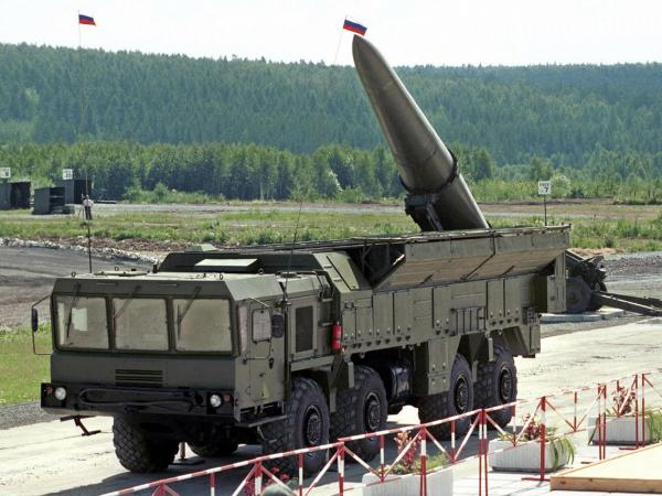 "An undated file picture shows Russian missile complex ""Iskander"" on display during a military equipment exhibition in the Siberian town of Nizhny Tagil."