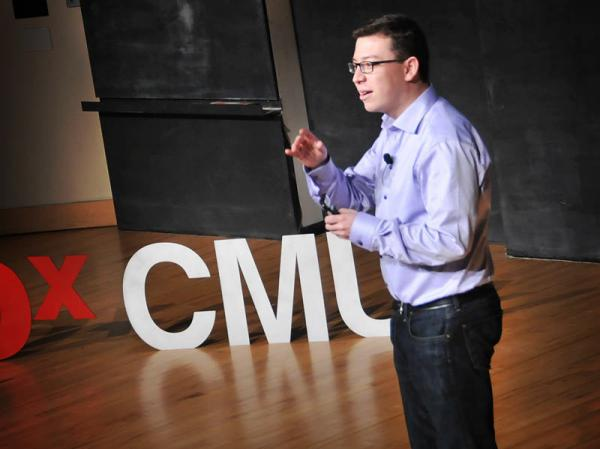 Luis von Ahn speaking at TEDxCMU