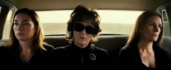 "The all-star cast of ""August: Osage County"" is led by Meryl Streep (center) and Julia Roberts (right). (The Weinstein Company)"