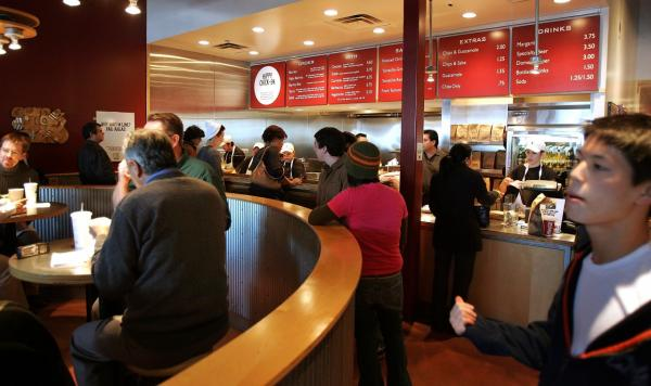 A Chipotle restaurant is pictured in Glenview, Illinois, in December 2005. (Tim Boyle/Getty Images)