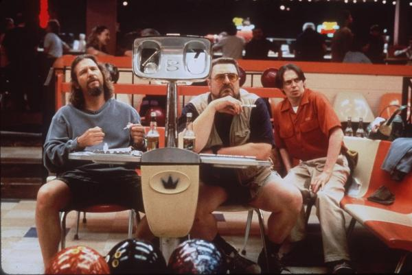 "Jeff Bridges (from left), John Goodman and Steve Buscemi starred in the Coen brothers' 1998 film <em>The Big Lebowski. </em>It didn't do particularly well in the theaters, but on the home movie market,<em> </em>""it became some sort of cult thing,"" says Joel Coen. ""How do you explain that? I have no idea."""
