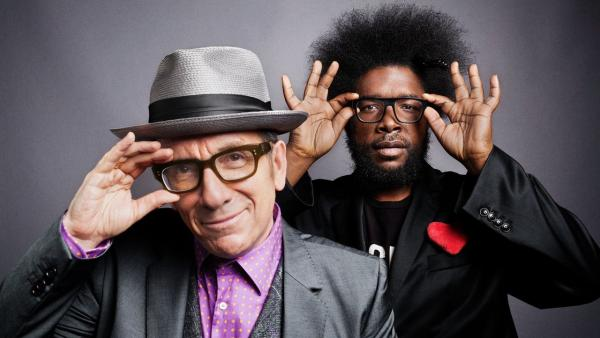 "Elvis Costello and The Roots' collaboration has a ""throwback feel"" KCRW's Raul Campos says, which is the topic of today's DJ Sessions.  (Danny Clinch via NPR)"