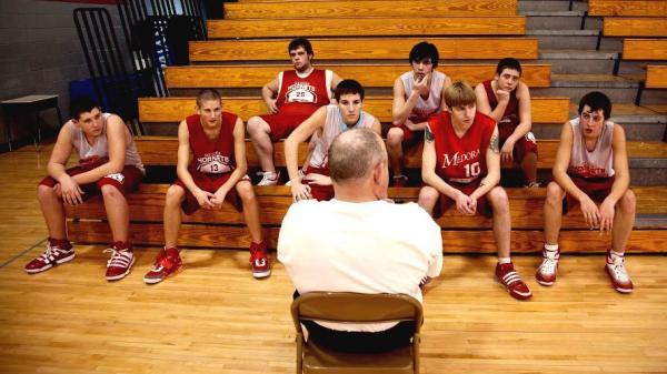 The Medora Hornets, here with assistant coach Rudie Crain, are the centerpiece of the documentary <em>Medora, </em>from directors Davy Rothbart and Andrew Cohn.
