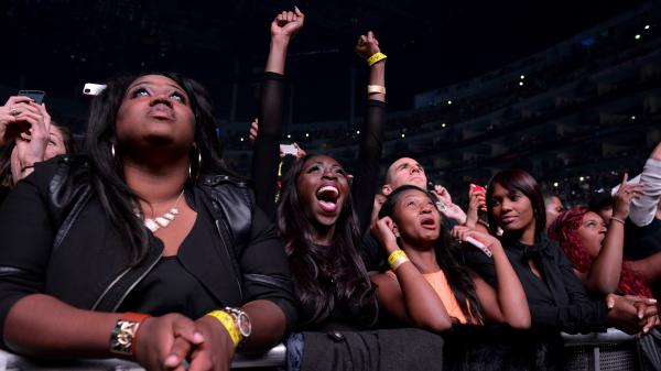 The audience at Beyonce's Dec. 3 performance at the Staples Center in Los Angeles.