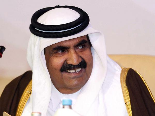 The former emir, Sheik Hamad bin Khalifa al-Thani, was the driving force behind Qatar's high-profile forays throughout the region. Shown here in 2012, he stepped down this past June in favor of his 33-year-old son.