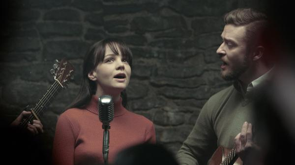 Carey Mulligan (left) and Justin Timberlake in a scene from the upcoming Coen Brothers film<em> Inside Llewyn Davis</em>.