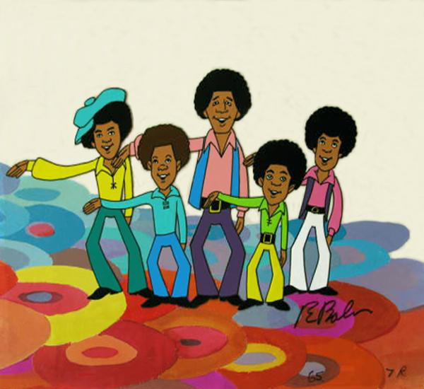 An original production cel for<em> The Jackson 5ive.</em>