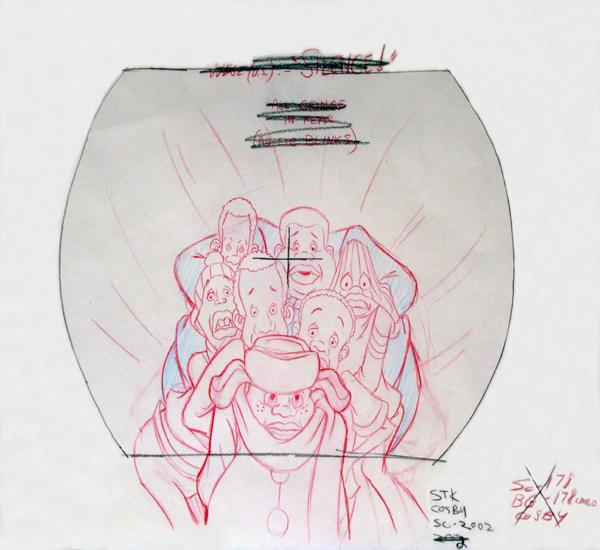 An original production drawing for<em> <em>Fat Albert and the Cosby Kids.</em></em>