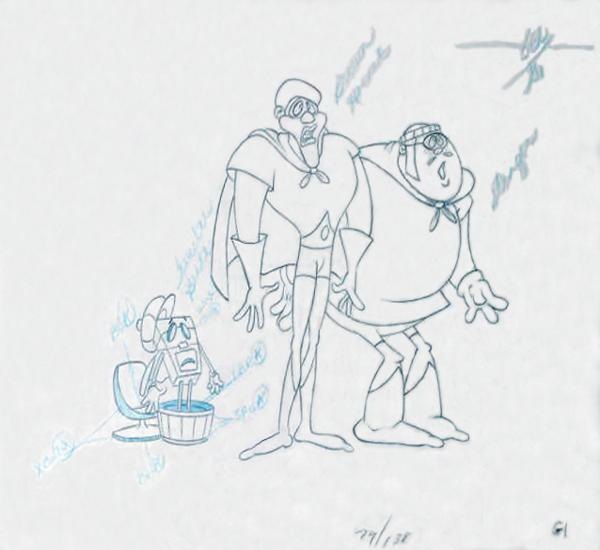 "An original production drawing for <a href=""http://www.youtube.com/watch?v=PZeGqdaEKIU""><em></em>the Brown Hornet</a>, a character from <em>Fat Albert and the Cosby Kids.</em>"