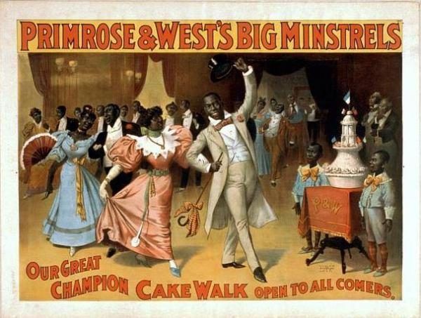 Cakewalk dances were an integral part of minstrel shows for decades.