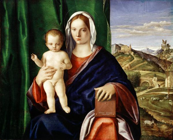<p>This piece, from the workshop of Giovanni Bellini, is valued at $4-$10 million.</p><p><em>Madonna and Child</em>, Giovanni Bellini, 1508, oil on panel.</p>