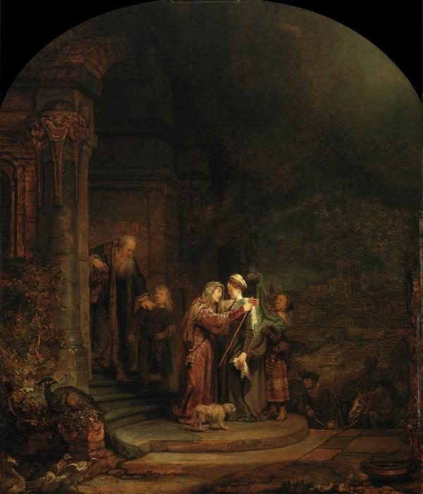 Christie's appraised 5 percent of the Detroit Institute of Arts' collection at $454-$867 million. They estimated that this piece alone would fetch $90 million: <em>The Visitation</em>, Rembrandt van Rijn, 1640, oil on oak panel.