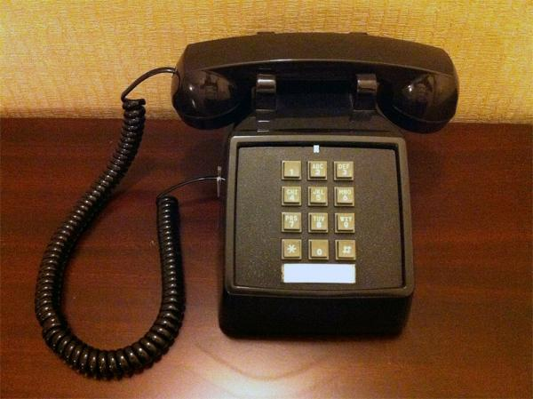 Something you won;t see much of in Idaho anymore ... a landline.