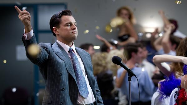 Leonardo DiCaprio plays a profoundly corrupt stock-market manipulator in <em>The Wolf of Wall Street</em>, based on the real-life story of convicted fraudster Jordan Belfort.