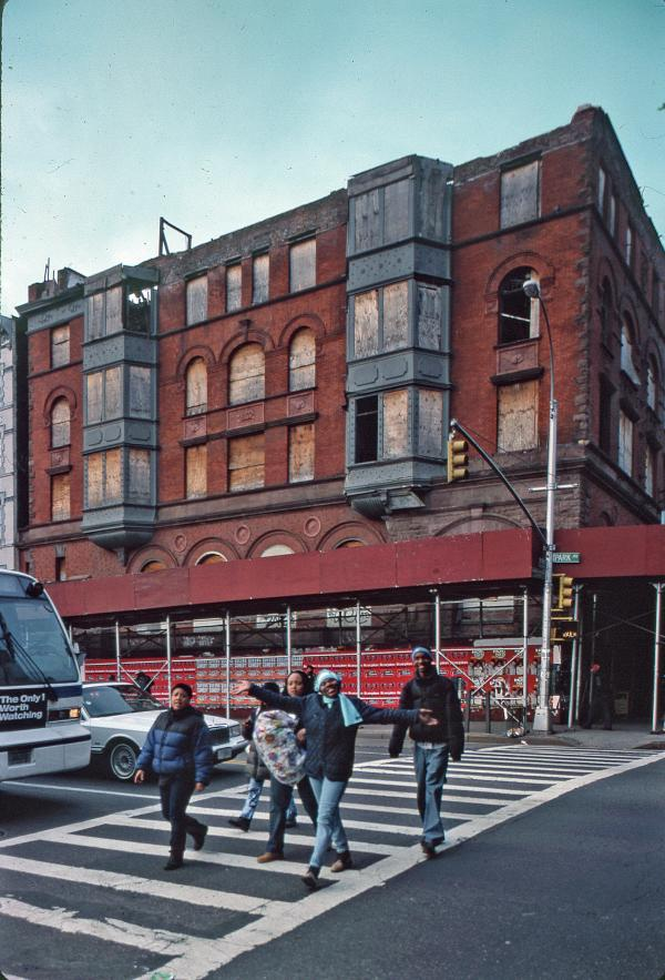 Former Corn Exchange Bank, northwest corner of Park Avenue at East 125th Street, Harlem, 1996.