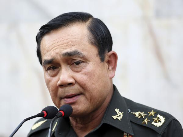 Thailand's army chief Gen. Prayuth Chan-ocha on Friday refused to rule out a coup. The country has experienced nearly a dozen military takeovers in its history.