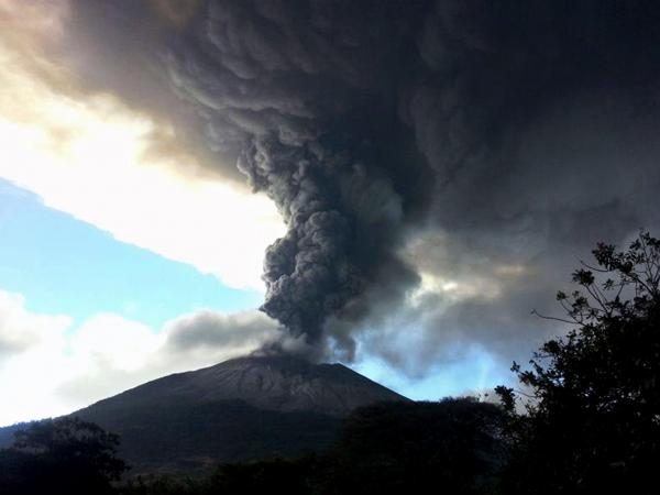The Chaparrastique volcano in eastern El Salvador erupted on Sunday.