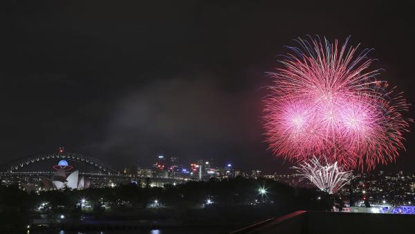 The new year has begun in Australia, where fireworks exploded near Sydney's Harbor Bridge and the Opera House.