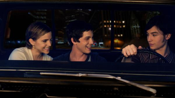 Sam (Emma Watson), Charlie (Logan Lerman) and Patrick (Ezra Miller) help each other through the lowest parts of high school in <em>The Perks of Being a Wallflower</em>.