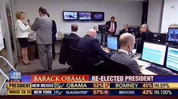 "Fox News anchor Megyn Kelly walked down the hallway to ask the Fox decision team to explain the reasoning behind its Ohio call, which contradicted Rove's analysis. <a href=""http://www.huffingtonpost.com/2012/11/06/fox-news-argues-obama-ohio_n_2085817.html?utm_hp_ref=media"">Click here to watch the interview.</a>"