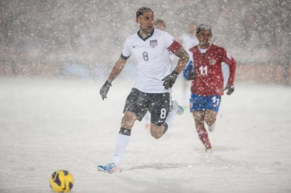 Midfielder Clint Dempsey of the United States dribbles the ball during a FIFA 2014 World Cup Qualifier match between Costa Rica and United States at Dick's Sporting Goods Park on March 22, 2013 in Commerce City, Colorado.