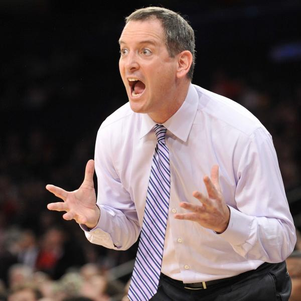 Mike Rice, who was then Rutgers' men's basketball coach, during a game last season.