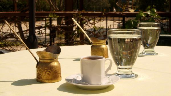Throughout the region that was once the Ottoman empire, people make coffee pretty much the same way: using coffee beans ground into a fine powder, then boiled in a little brass pot that the Turks call a <em>cezve</em>.
