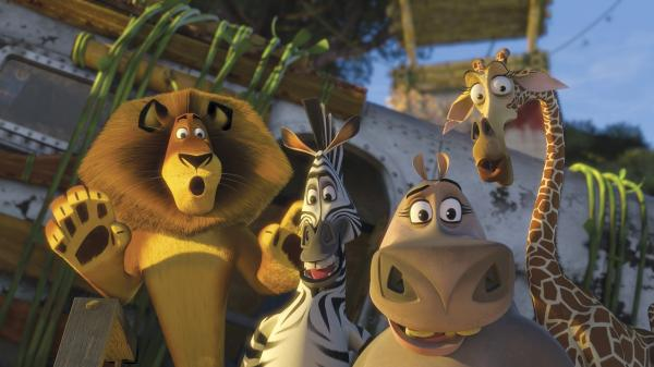 A scene from the animated film <em>Madagascar: Escape 2 Africa</em>.