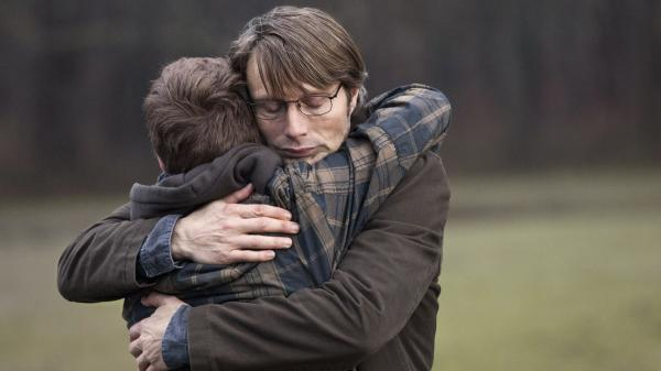Mads Mikkelsen plays Lucas, a schoolteacher accused of sexual abuse, in Thomas Vinterberg's latest film, <em>The Hunt.</em>