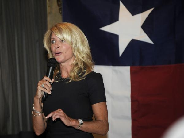Texas state Sen. Wendy Davis speaks at a Washington, D.C., fundraiser last month.