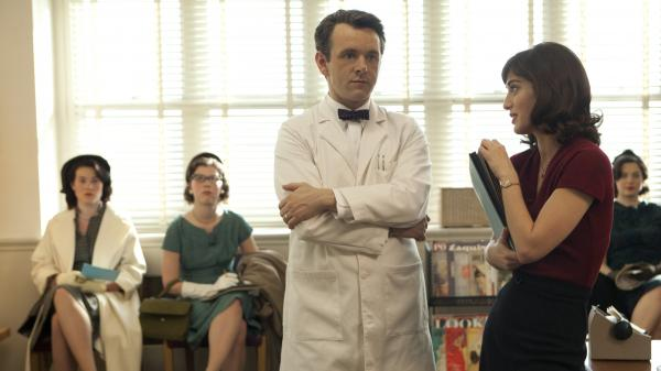 Michael Sheen and Lizzy Caplan portray pioneering sex researchers William Masters and Virginia Johnson in a new Showtime series.