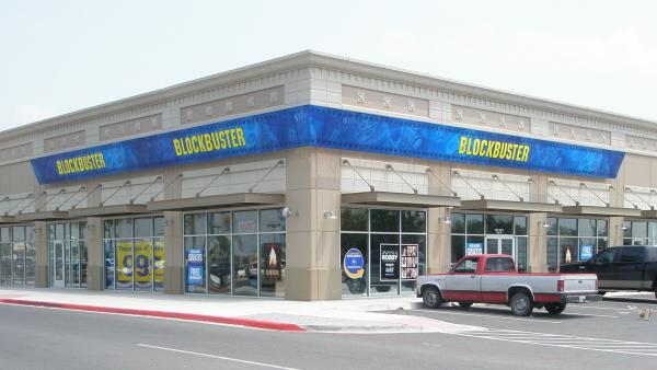 This Blockbuster store in Mission, Texas, is franchised by Border Entertainment. The company has 26 stores across Texas and Alaska that will live on after the last 300 or so company-owned stores are closed by early January 2014.