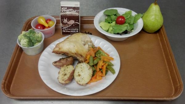 Lunch at the West Salem School District in Wisconsin.