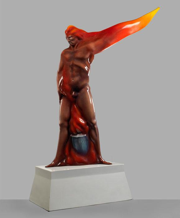 <em>Man on Fire,</em> Luis Jiménez