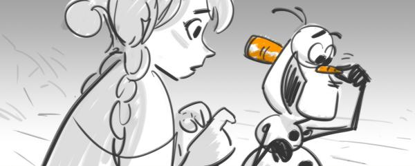 <em>Frozen</em> storyboard image.