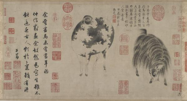 "Zhao Mengfu was the preeminent painter and calligrapher of the early Yuan dynasty (1279-1368). His <a href=""http://www.asia.si.edu/collections/singleObject.cfm?ObjectNumber=F1931.4"">Sheep And Goat</a> scroll is estimated to be worth $100 million."