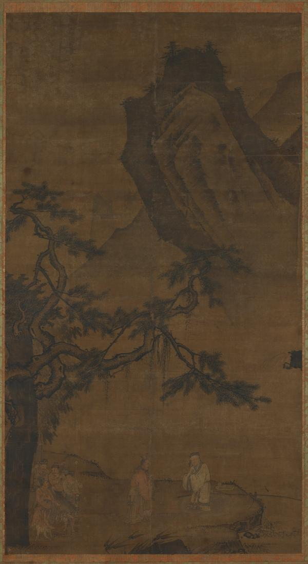 Li Tang painted <em>Summoning The Sage At Wei River</em> on silk during the Ming dynasty (1368-1644).