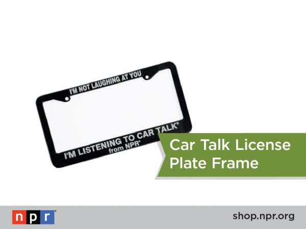 "Alone in your car... laughing hysterically? Explain yourself with a <em>Car Talk</em> license plate frame: <a href=""http://n.pr/1d1r5aF"">http://n.pr/1d1r5aF</a>"