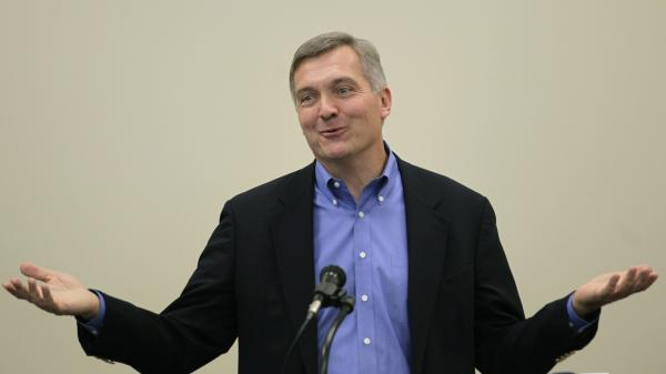 Utah Rep. Jim Matheson delivers a speech in October 2012. The veteran Democrat says he'll retire at the end of his seventh term.