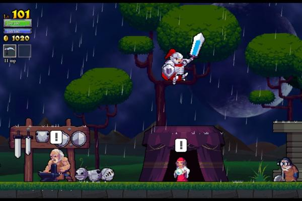 "<strong><a href=""http://bit.ly/18zoBmH"">Rogue Legacy</a></strong> is a swords and sorcery platformer game full of colorful characters and randomly generated levels."